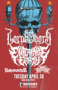 Lorna Shore @Reggies on Tuesday, April 30, 2019