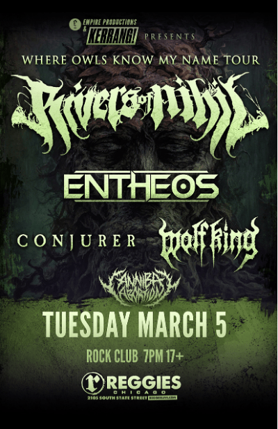 Rivers of Nihil @Reggies Tuesday, March 5, 2019