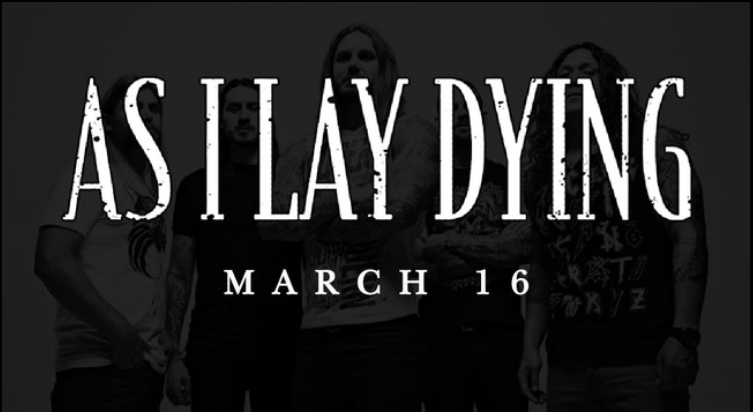 As I Lay Dying at Monarch Music Hall Saturday, March 16, 2019