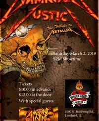 Damaged Justice and Among the Living at Brauerhouse Saturday, March 2, 2019