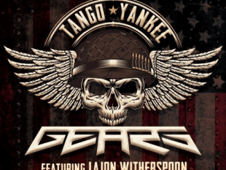 Gears - skull with military helmet and pilots wings