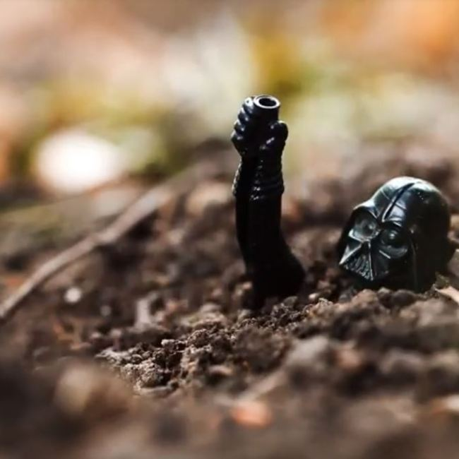 Darth Vader Buried In a Landfill Far, Far Away