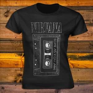 Дамска Тениска Nirvana Come As You Are