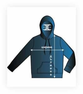 size charts mens sweatshirts