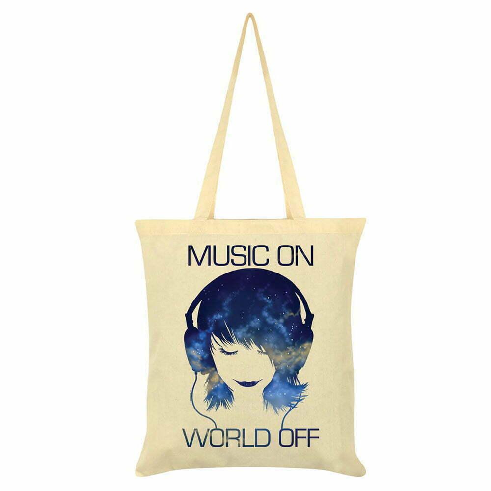 Платнена чанта Music On World Off