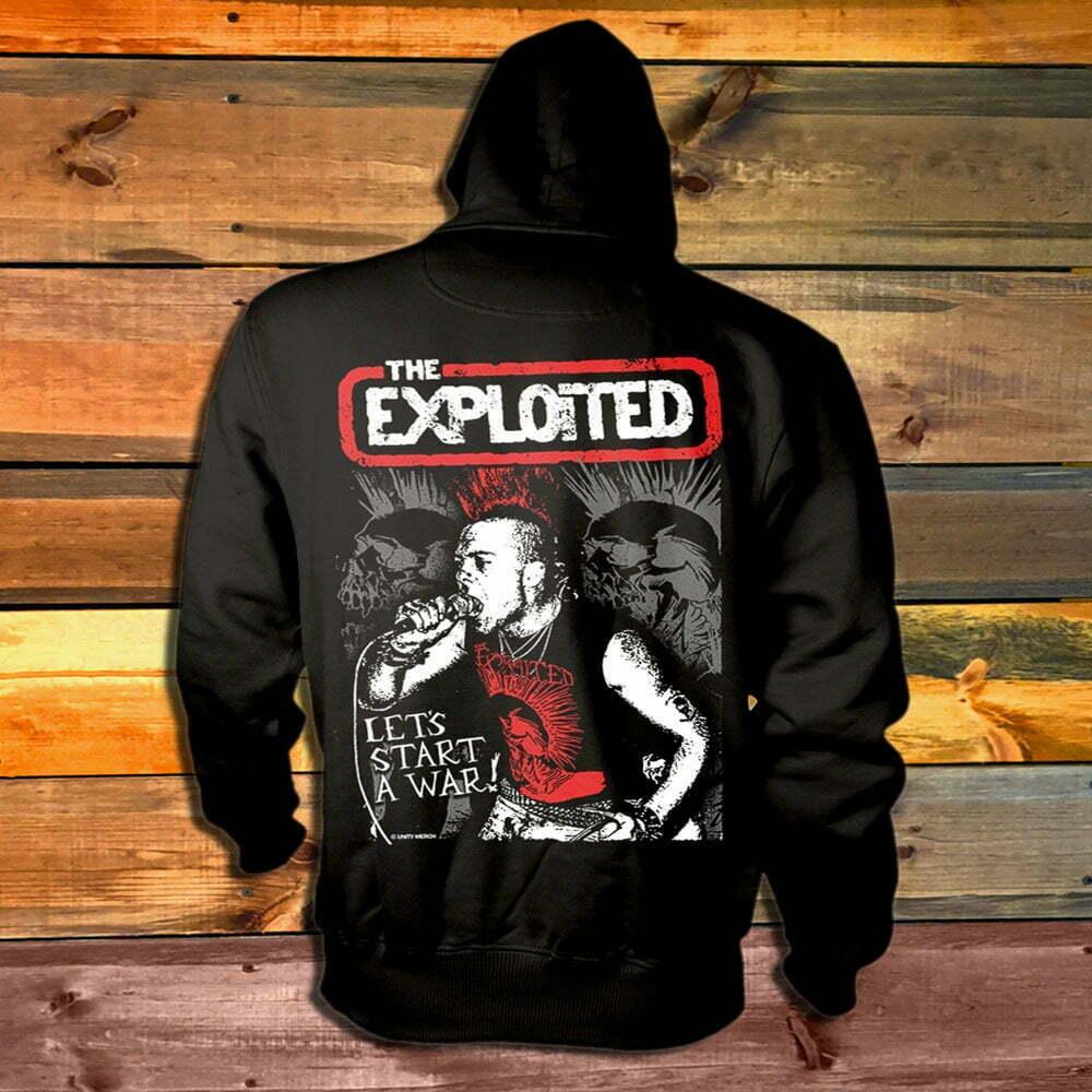 Суитчър The Exploited Let's Start A War гръб
