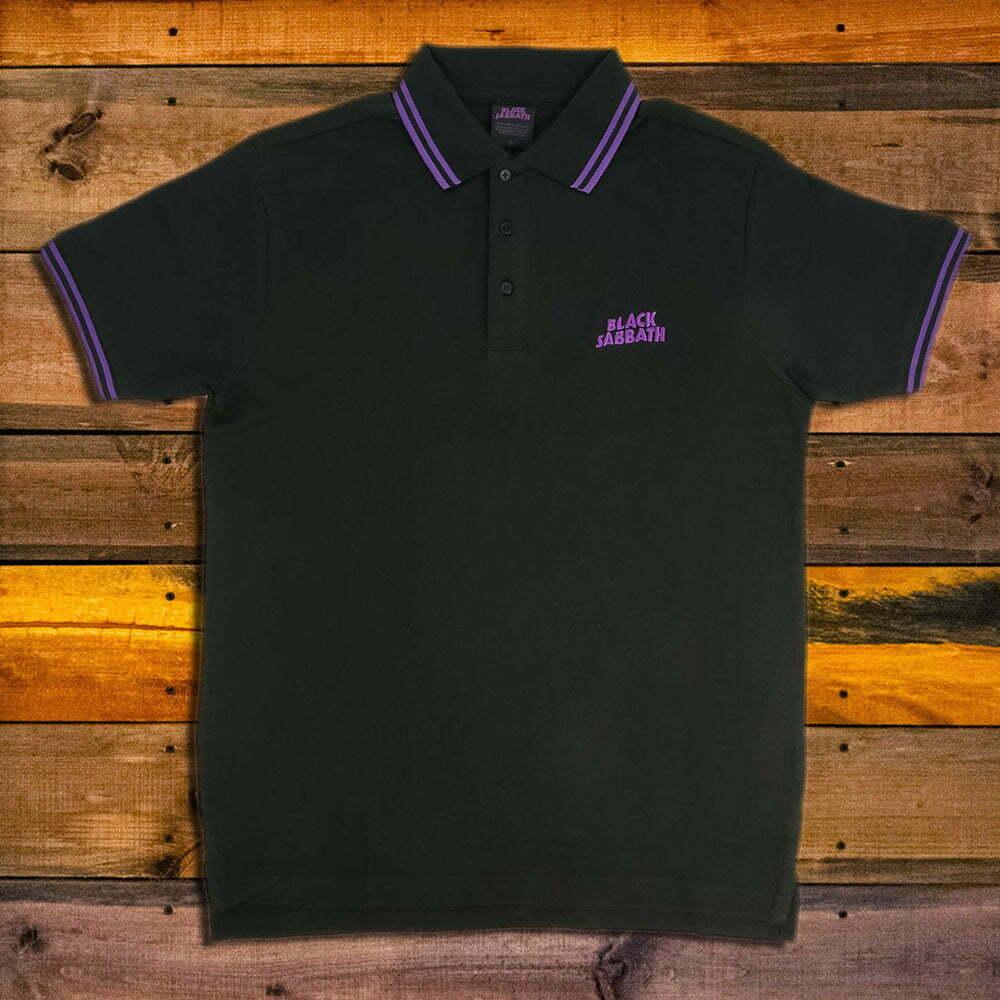 Тениска с яка Black Sabbath - Logo