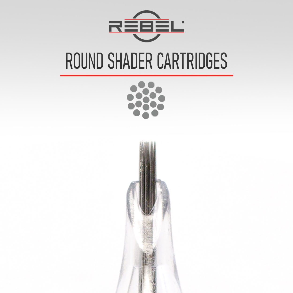 Round shader needles - Precision tattoo cartridge configurations - Tattoo Equipment - REBEL