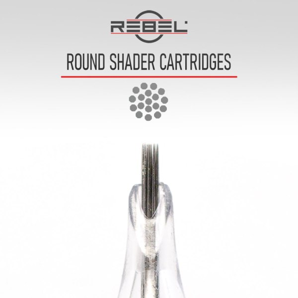 Round shader needles - Precision tattoo cartridge configurations - Tattoo Equipment - REBEL
