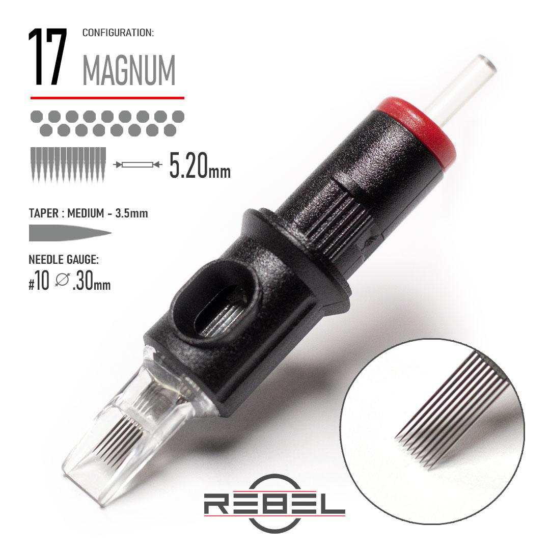 REBEL-Precision Cartridge-MAGNUM-17-Shader Needle