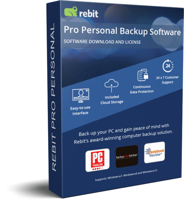 Copertura 3D Box per software di backup personale Rebit Pro