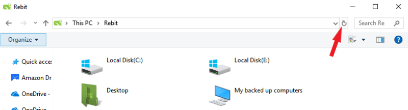 Rebit Backup Browser Refresh