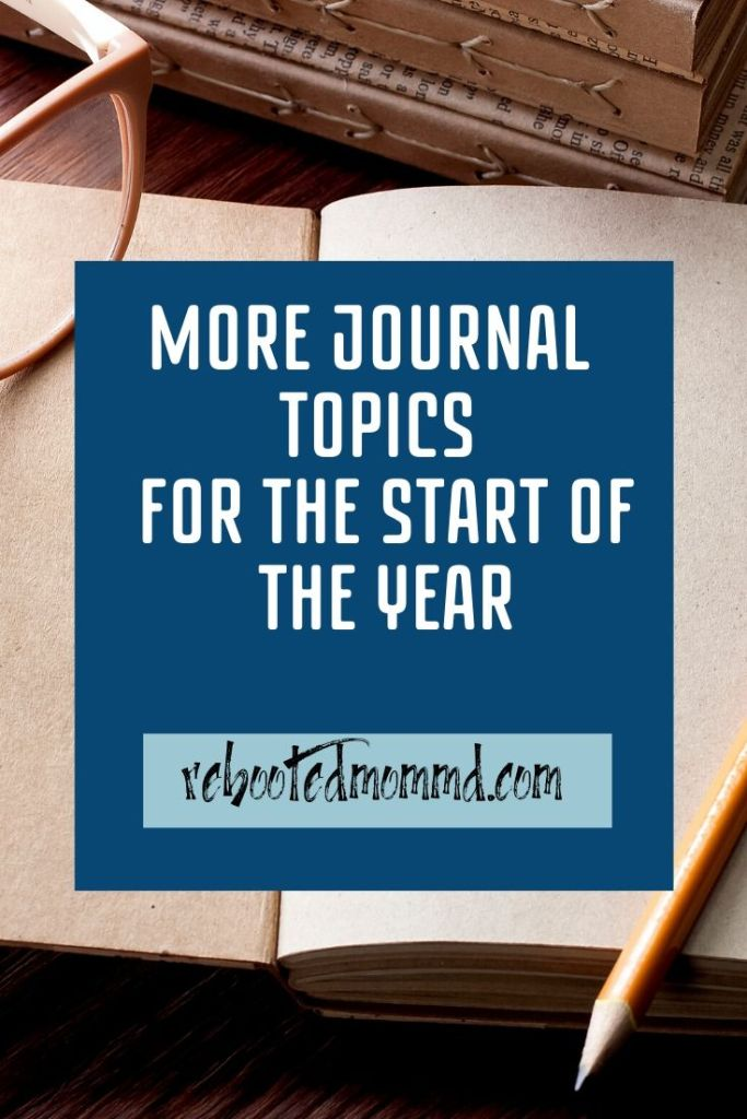 journal topics for the year