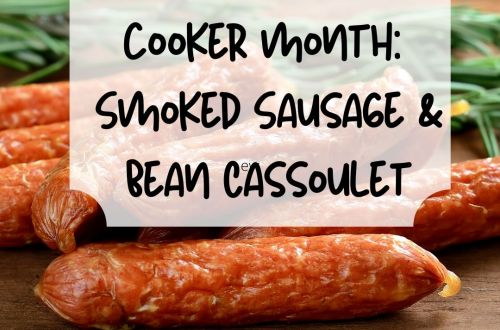 smoked sausage and bean cassoulet