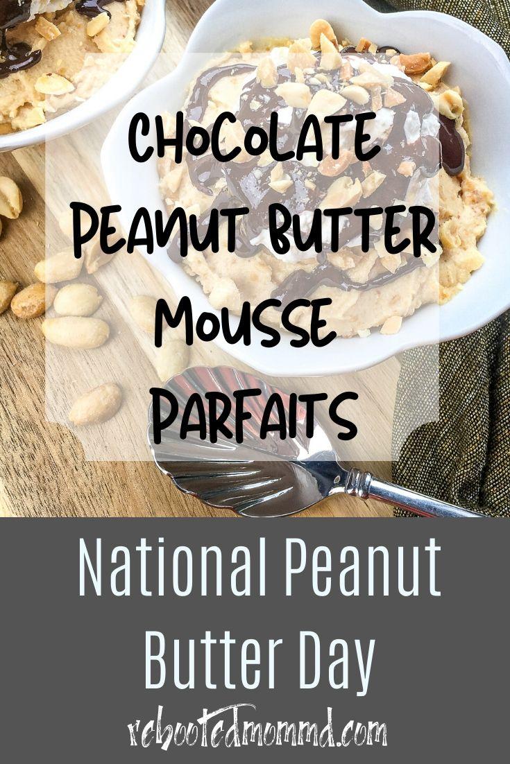 Chocolate Peanut Butter Mousse Parfaits
