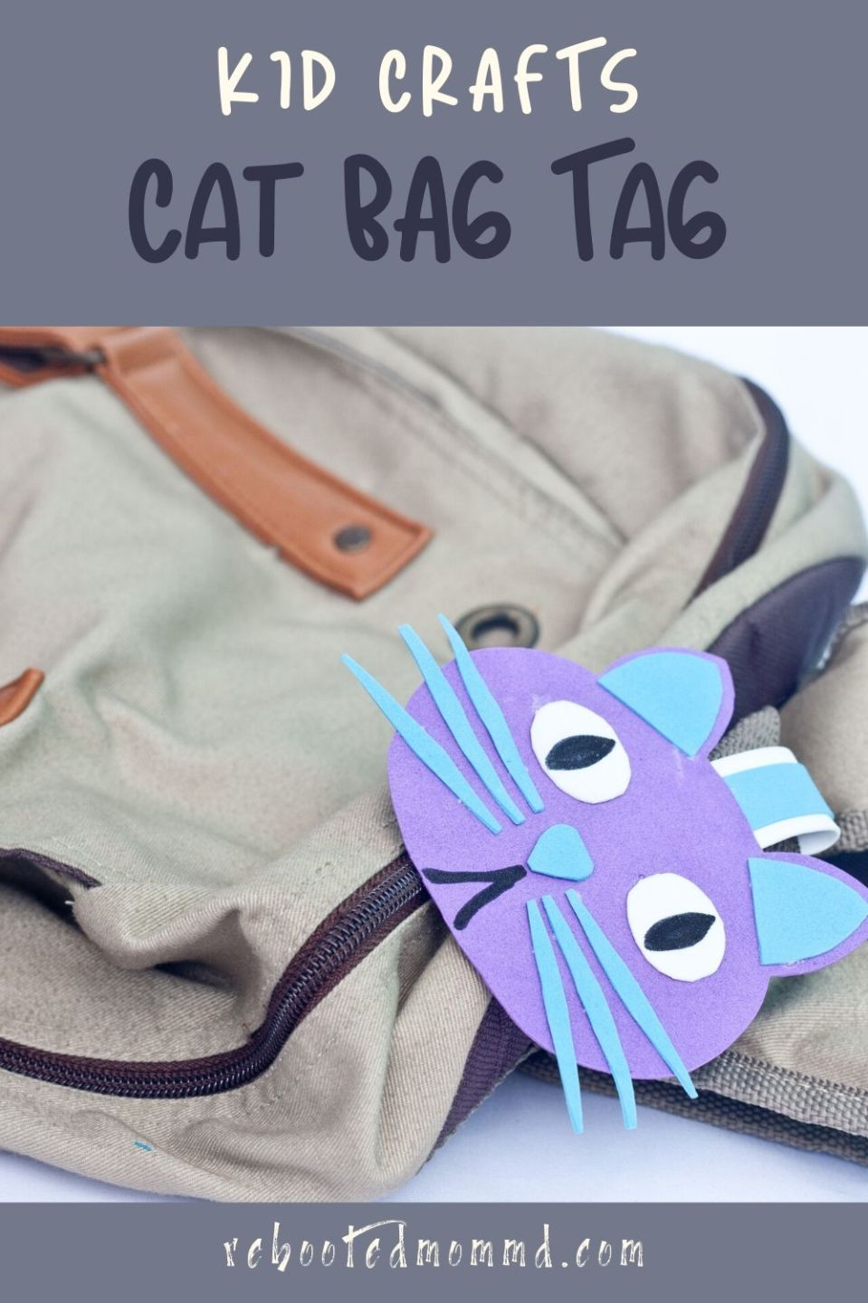 Kids Activities: Make a Cute Cat Bag Tag