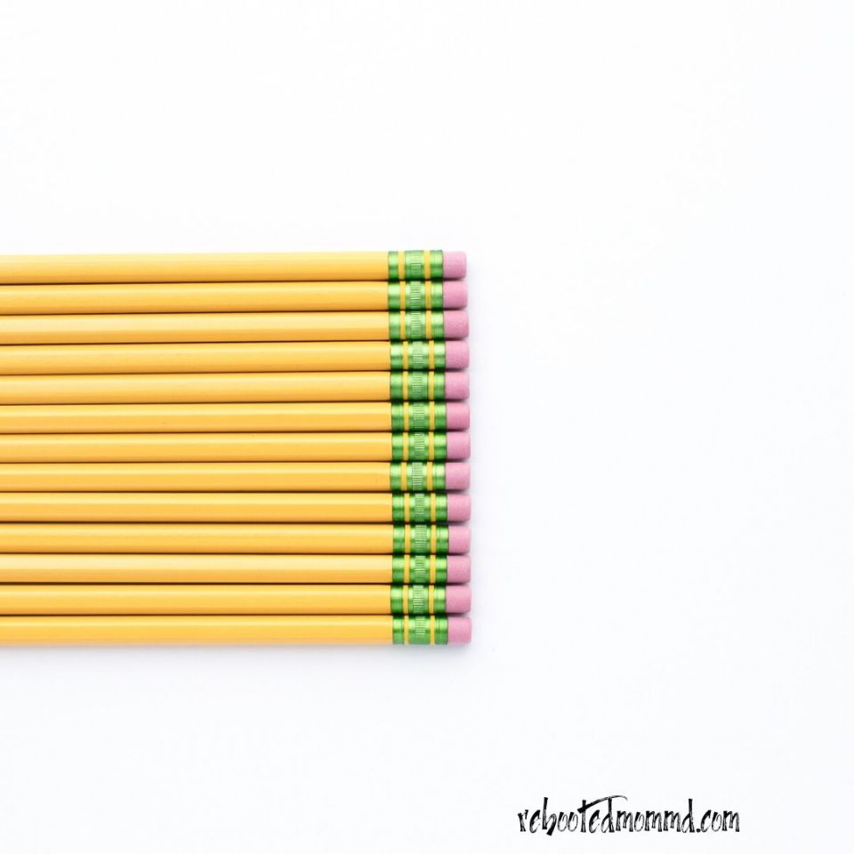 pencils homeschooling