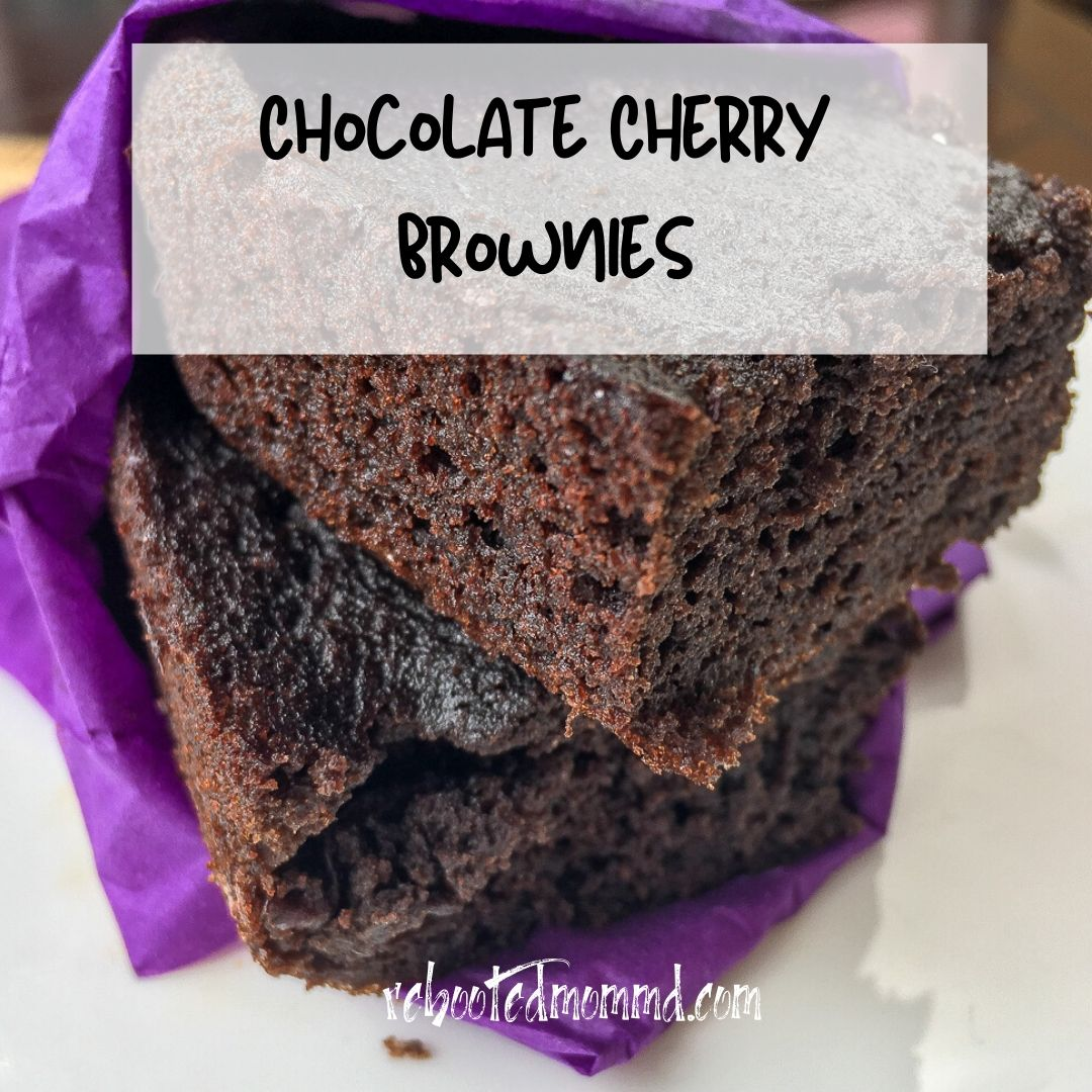 chocolate cherry brownie