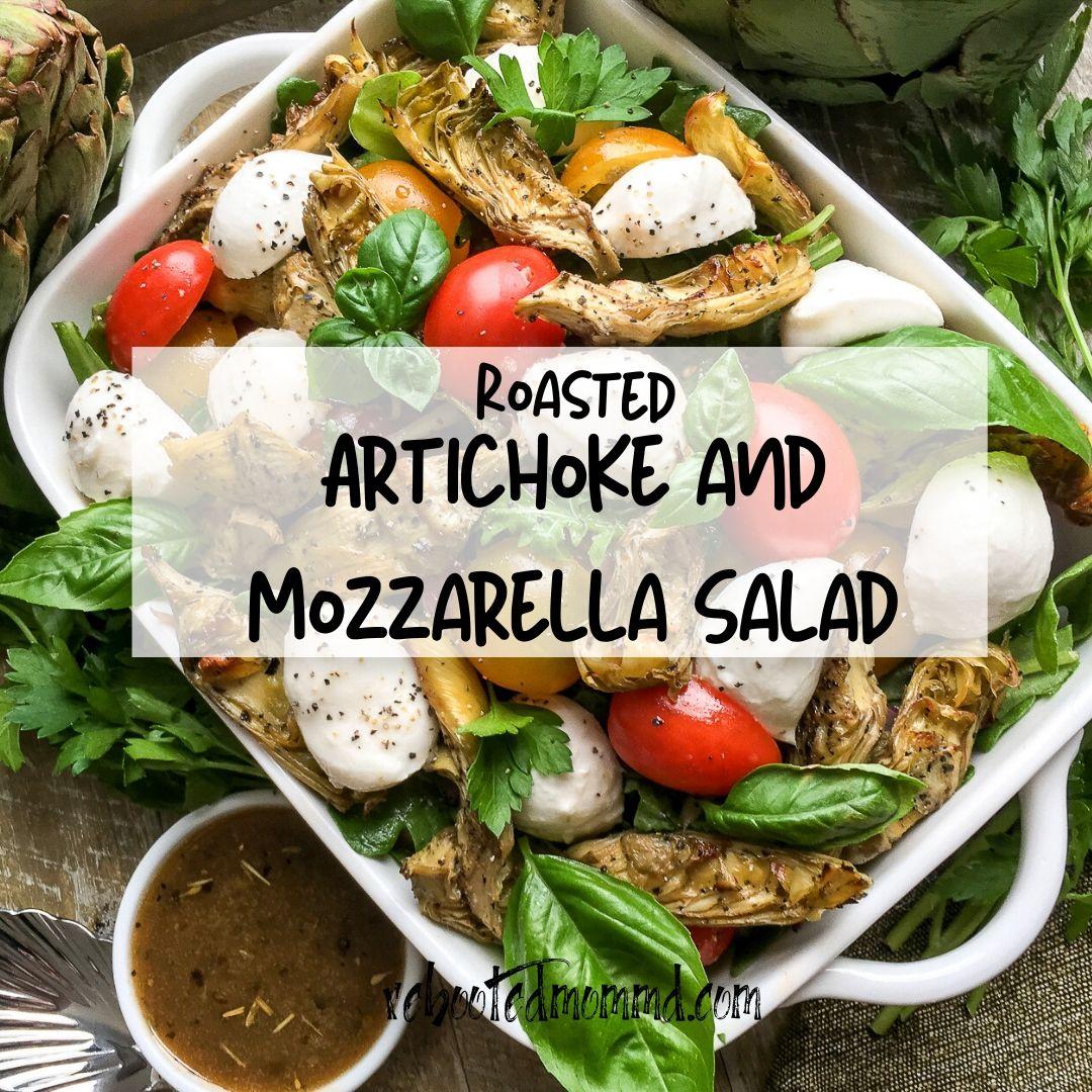 roasted artihoke and mozzarella salad