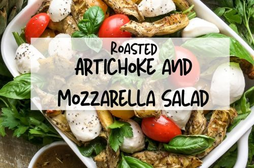 roasted artihoke and mozzarella salad