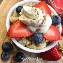 Creamy Instant Pot® Rice Pudding