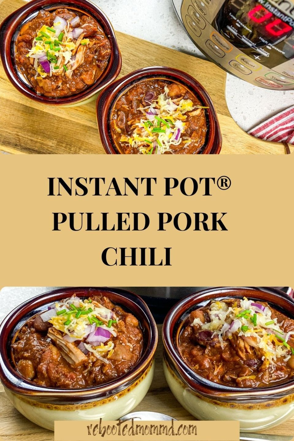 National Chili Month: Instant Pot® Pulled Pork Chili