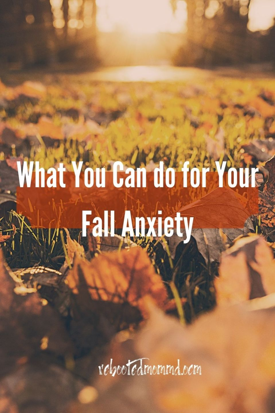 What You Can do for Your Fall Anxiety