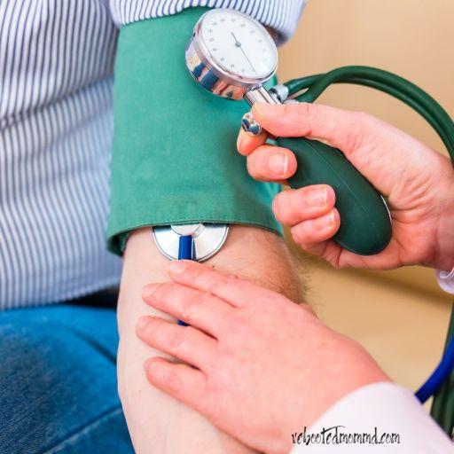 high blood pressure cuff