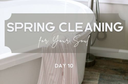 spring cleaning make room for gratitude