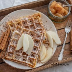 Cinnamon and Ginger Waffles
