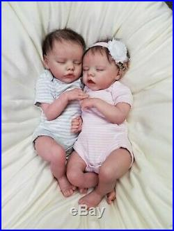 Reborn Baby Boy and Girl Twin A & B by Bonnie Brown Reborn Dolls Lifelike