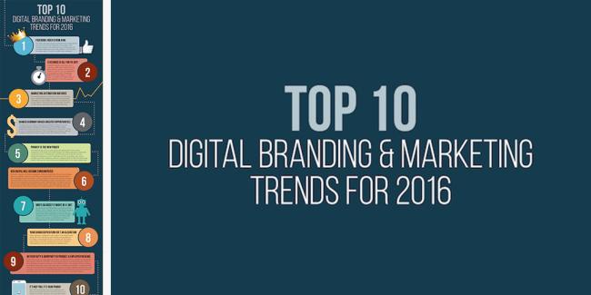 Top 10 Digital Branding & Marketing Trends For 2016