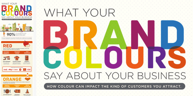 What do your brand colours say about your business