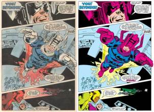 SecretWars1BlueGalactusInteriorComparison1 Do You Own Secret Wars #1: The Blue Galactus Error Variant?