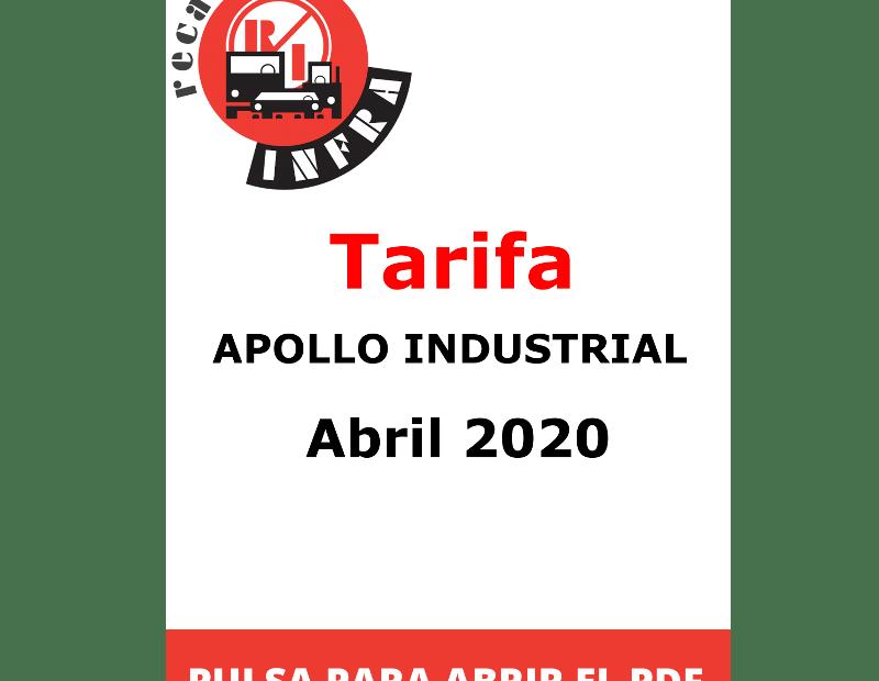 recambios-infra-APOLLO Industrial Abril 2020