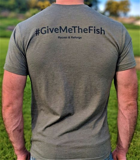Give Me The Fish T-Shirt Back View