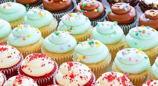Modelos de cupcakes ensinados no curso