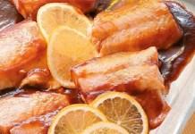 Receita de Pescada com laranja