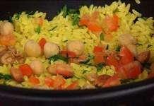 Receita de Pillaf e Kebab de Cordeiro e de Frango