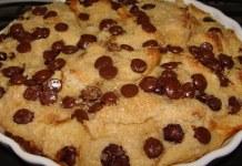 Receita de Pudim de pão com gotas de chocolate