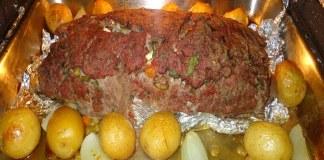 Receita de Rocambole de carne moída com batatas