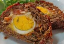 Receita de Rocambole de carne moída com ovos