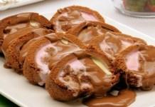 Receita de Rocambole Rápido de Chocolate com Sorvete