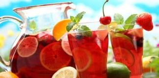 Receita de Sangria Bebida Alcoólica