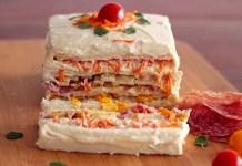 Receita de Torta Fria Colorida