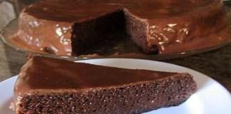 Receita de Torta de Chocolate sem Farinha