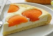 Receita de Torta de Pêssegos e Requeijão