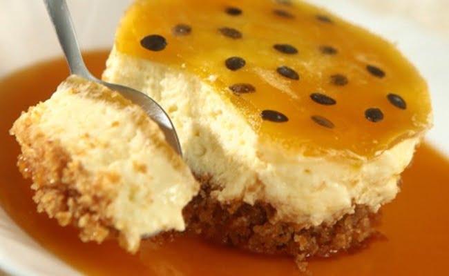 Receita de Torta mousse diet de maracujá