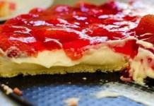 Receita de Torta rápida de morango