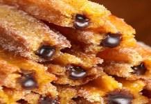 Receita de churros de cenoura com brigadeiro